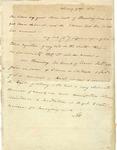 Aaron Burr Letter to G.W. Lathrop, esq., 1814.