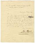 Diplomatic letter of introduction for James Chesnut of Camden, S.C. Written by John Forsyth, Secretary of State, 1839.