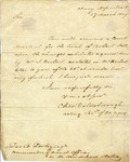 Charles W. Goldsborough, acting Secretary of the Navy, orders David Porter, commander of New Orleans station, to convene a court martial for the trial of Robert Fell. 1809.