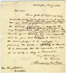 Andrew Jackson letter to Henry Baldwin requesting information