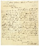 Letter from Seargent Smith Prentiss to Albert Pike, April 25, 1846.