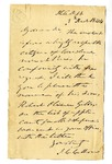 Letter from John C. Calhoun requesting Robert Oliver Gibbes be listed as an applicant for Midshipman, December 3, 1844.