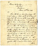 Joel Poinsett letter to Thomas Milton regarding receipt of documents for cargo of the Schooner Fair American, dated November 14 1826.