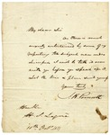 J. R. Poinsett letter to Hugh Swinton Legare, dated October 10, 1837.