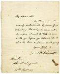 J. R. Poinsett letter to Hugh Swinton Legare, dated October 10, 1837.
