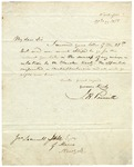 J.R. Poinsett letter discussing views on the Cherokee Treaty, dated May 29 1838.
