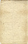 Letter from Beverley Tucker to his sister, Brooke, dated January 14, 1843.