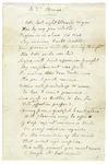 """Louisa Catherine Johnson Adams poem """"to Thomas,"""" 1842."""