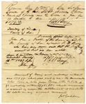 Document allotting Thomas W. Seabrook estate to R. Berry, May 21 1836. Signed by James Gadsden.
