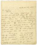 Thomas Benton letter to Dr. Harry Boernstein, 1853.