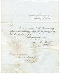M.C. Perry letter to Acting Sailing Master, George A. Prentiss. New York, 1834.