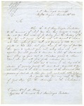 Letter from Matthew C. Perry, in Norfolk, Virginia aboard the U.S. Steam Frigate Mississippi, to William J.W. Clancy, commanding U.S. Steam Frigate Powhattan, directing him on the route by which he shall sail to Macau (China). November 23, 1852.
