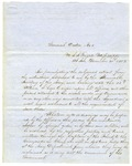 General Order No. 1, signed by U.S. Navy Commander in Chief Matthew C. Perry, dated December 21, 1852.