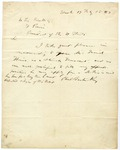 Letter of recommendation from Phillip Barton Key II to President Franklin Pierce, dated July 15, 1853.