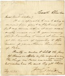 Letter from William C. Preston to Miss Silsbee, 1835.