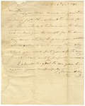 Turner Ashby, Sr., father of Confederate officer of the same name, writes to George Rust regarding the payment of debts. Virginia, 1832.