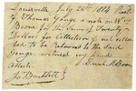 Receipt signed by Enoch M. Boone and John Bartlett. Louisville, July 26, 1814.