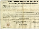 Land grant for 160 acres in Lima, Ohio, signed by President Martin Van Buren, 1837.