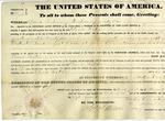 Land grant for 160 acres in Lima, Ohio, signed by President Martin Van Buren, 1837.