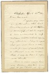 Jeb Stuart letter to commanding general requesting information. Culpeper, Virginia, April 12, 1863.