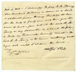 Roger Taney Promissory Note, signed by Matthew Flume, October 4, 1818.