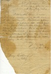 John H. Kelly letter to Major E.S. Barford, dated July 28, 1864.