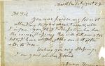Anna Harrison letter, date unknown.