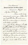 Percival Drayton letter to Ely McCauley, July 28, 1865, Washington, D.C.