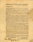 General Orders, No. 14, issued by (C.S.A.) Major General Leonidas Polk and signed by George Williamson. Columbus, Kentucky, October 26, 1861.