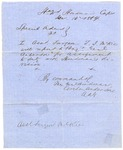 Military order, issued and signed by Thomas Hindman. January 14, 1864