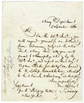 Letter from Isaac Toucey, Secretary of the Navy, to Lt. George W. Rodgers containing instructions for latter's transfer to the U.S.S. Constitution in Annapolis. Written in Washington, D.C., September 5, 1860.
