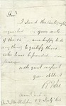 A letter from Robert E. Lee containing his autograph for General J.M. St. John. Cartersville, Virginia, July 25, 1865.