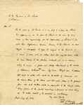 John P. Kennedy letter to the President of the Bank of Baltimore, dated July 16, 1834.