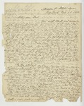 Letter to Andrew H. Foote aboard the USS Cumberland, from Chaplain Charles Samuel Stewart, writing from New York, dated November 23, 1843.