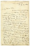 Horace Greely letter, New York, N.Y., July 2, 1860.