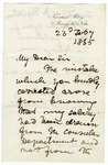 Letter from David Livingstone to Austin Layard, February 23, 1865.