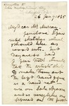 Letter from David Livingstone to John Murray regarding ideas for woodcuts, January 26, 1865.