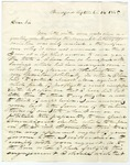 John Hale letter acknowledging a request to speak at the Mercantile Library Association, September 14, 1845.