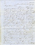 Letter from Louis T. Wigfall to a T. King in New York, Marshall, Texas, May 17, 1855.