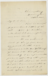 Matthew Fontaine Maury letter to a faculty member of the Naval Academy in Annapolis, Maryland; Washington, D.C., December 20, 1860.