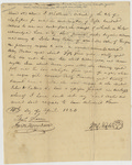 Deed of sale for Seven People (as slaves) sold by William O'Neale to John Henry Eaton, Washington, D.C., April 10, 1823.