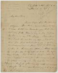 Letter from Hugh S. Legare to his daughter, Charlottesville, Virginia, August 6, 1838.