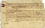 South Carolina colonial writ signed by Charles Hill, Charleston, May 8, 1722.