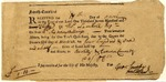 Quit-rent receipt for 401.5 acres of land in South Carolina, 1750.
