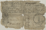 Ten pound (£10) note of South Carolina currency, 1775. by Provincial Congress of South Carolina, Gideon Dupont, Edward Blake, Thomas Corbett, Aaron Loocock, and William Parker