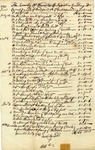 Account of services performed and money due Ignatius Goulding, 1783 and 1788, Worcester, Massachusetts.