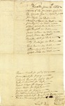 List of prisoners in jail, Worcester, Massachusetts, June 6, 1785.