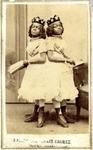 "Carte-de-visite photograph: ""2 headed girl, MIllie Crissie,"" no date."