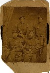 Photograph, four unidentified United States officers in group portrait photograph by W.P. Egbert, Davenport, Iowa, no date.