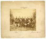 Signed photograph of Robert E. Lee and George Peabody (and others) at White Sulphur Springs, West Virginia, August 1869.